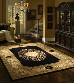Selecting area rugs carpet vinyl tile stone blinds for Can you put an area rug on carpet